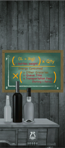 convenience equation with wine bottles